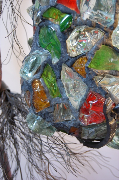 leadedchunkglasslampsculpturedetai2