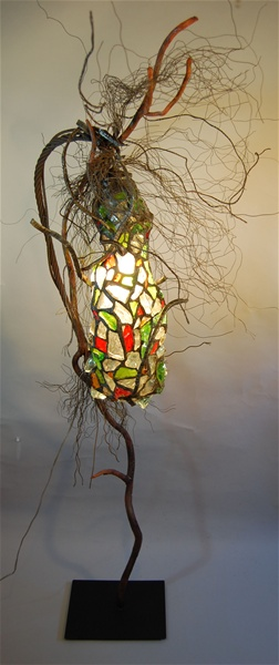leadedchunkglasslampsculpturefull